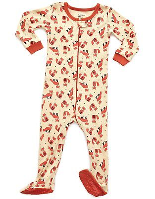 890dc8490 LEVERET BABY BOYS Girls Fox Footed Sleeper Pajama 100% Cotton (Size ...