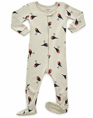 5609ddcc33 Leveret Baby Girls Bird Footed Sleeper Pajama 100% Cotton (Size 0M-5Y)