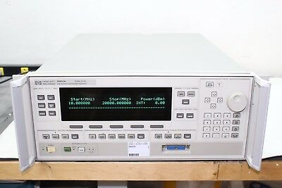 HP Agilent 83623A 10 MHz - 50 GHz High-Power Synthesized Sweeper Opt 001 004 008