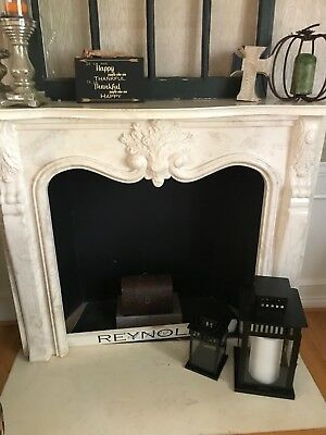 beautiful solid marble fireplace