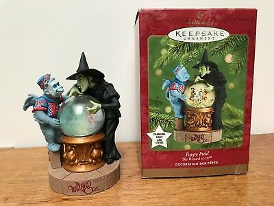 Hallmark Keepsake Poppy Field - The Wizard of Oz  Magic Ornament - 2001 - Used