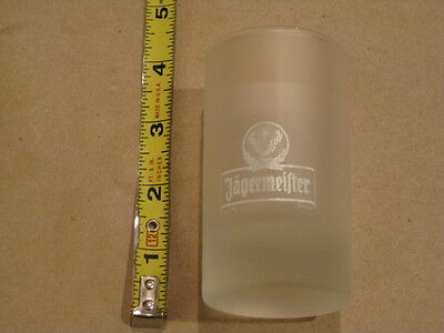 Set of two (2) Jagermeister Short Embossed and Tall Frosted Shot Glasses
