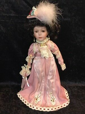 "Beautiful Antique Victorian Style Porcelain Doll 16"" Tall"