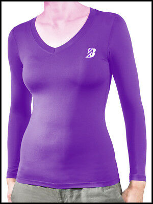 Women's Thermal Long Sleeve Top Base Layer Performance Running Training Shirt