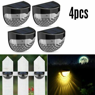2 4 Pack Litom Solar Powered Lamp Outdoor Waterproof Fence Yard Wall Lights AU