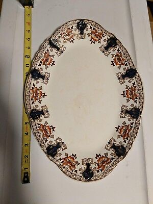 Antique Large English Dunn Bennett & Co. Transferware Platter / Tray