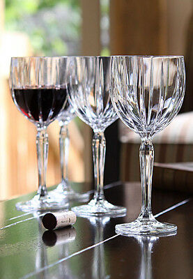 SET OF 4 NEW Marquis by Waterford Omega Crystal Wine Glasses w/ Stickers
