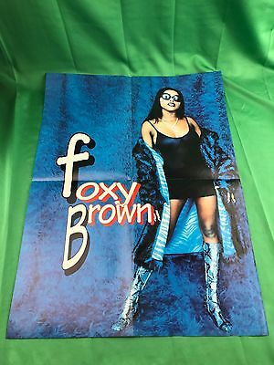 Vintage Foxy Brown & Ginuwine Poster 2-Sided 21x15