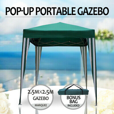 Gazebo Portable 2.5x2.5m, Pop Up ,Water Resistant, Steel Frame Marquee Sunshade,