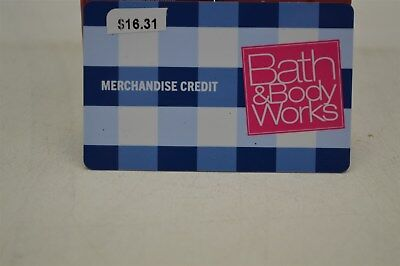 $16.31 Bath & Body Works Gift Card
