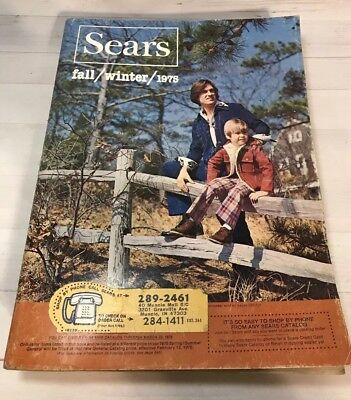 Vintage SEARS Fall and Winter 1975 Catalog 1491 pages vintage fashion