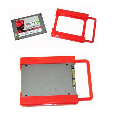 2.5 to 3.5 Adapter Bracket HDD SSD Notebook Mounting Tray Caddy Bay Post Red C
