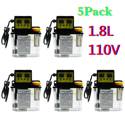 5X 1.8L Dual Digital Display Automatic Electric Lubrication Pump Oiler NC Pump