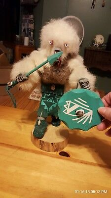 WOLF MYAZZIE - KACHINA DOLL , hand signed