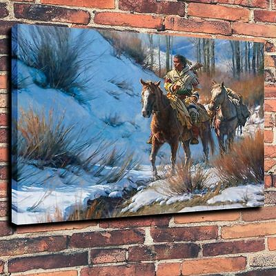 """Coloful Home Decor ,Art Canvas Print,Oil Painting Crow, The Lonely Hunter16""""x20"""""""