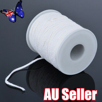 60M/Roll Spool of Cotton Square Braid Candle Wicks Wick Core Candle Making BO