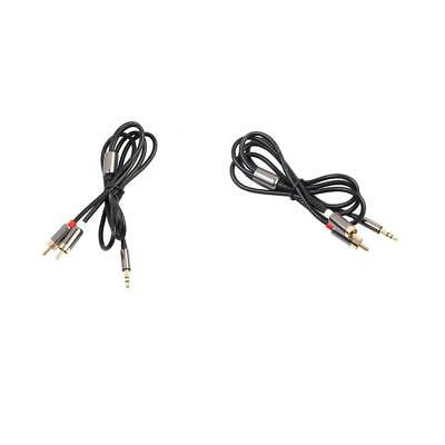 Lovoski 2 Pack 3.5mm Stereo Male to 2-RCA Male Audio Adapter Auxiliary Cable