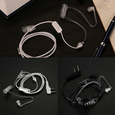 2 Pin Clip Earpiece Headset In Ear Mic ABS For Walkie Talkie Radio Security