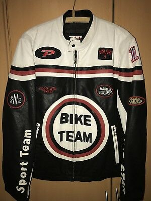 Lederjacke Bike Team Racing