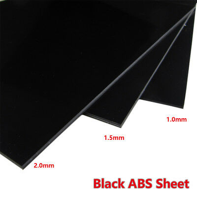 1 pcs ABS Styrene Plastic Sheet Plate Black Smooth Thickness 0.5 1 1.5 2 3 4 5mm