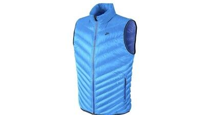 Nike Mens Puffy Vest Size XL Blue. Best Price