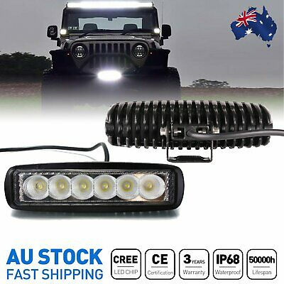 CREE 2x 6inch LED Work Driving Light Bar Flood Beam Offroad 4WD Reverse 4x4 7''