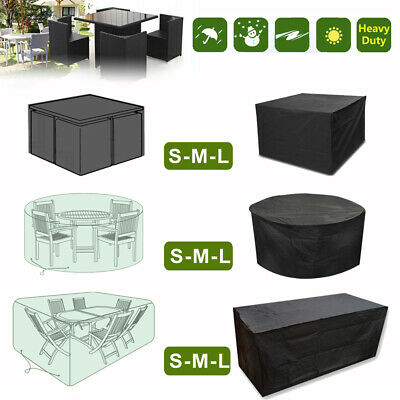 Waterproof Garden Patio  Furniture Cover Rattan Square For Table Chairs Bench Uk
