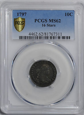 1797 Draped Bust 10C Pcgs Ms 62
