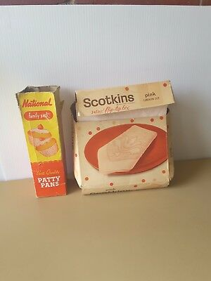 COLLECTABLE packaging national patty pans scotkins  napkins  1970's era