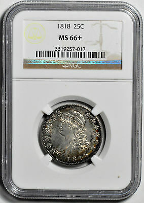 1818 Capped Bust 25C Ngc Ms 66+