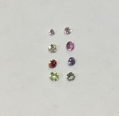 Cubic Zirconia Loose Stone ROUND shape crystal gem x10 PREMIUM Small tiny 1-2mm