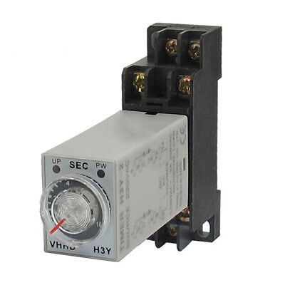 AC 220V P 8 DPTD 10 seconds Timer Delayed Time Relay H3Y-2 with Base Plug I3E9