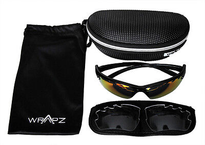 Wrapz Trailbreaker Interchangeable Cycling Running Sunglasses + Clear Lens