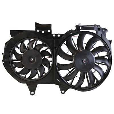 New Dual Radiator Condenser Cooling Fan Assembly fits 02-09 Audi A4 A4 Quattro