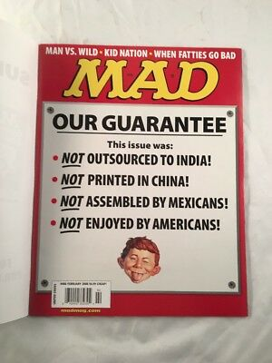 Mad Magazine # 486 February 2008 Our Guarantee Red Front Cover Issue