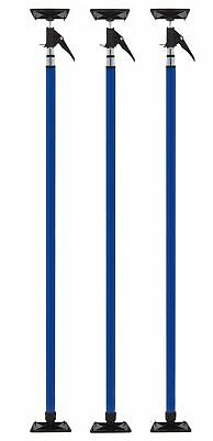 Zip-Up Quick Support Pole 3 Pack - 3.75' to 10' Adjustable 3rd Hand Exten... New