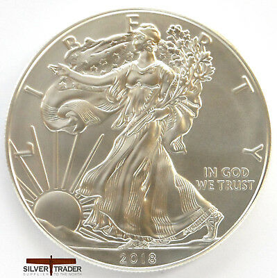 2018 1oz American Silver Eagle 1 ounce Silver Bullion Coin unc: