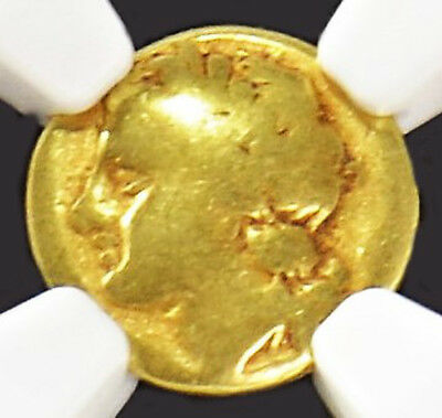 Aphrodite - Ngc Certified Sicily, Syracuse Agathocles Electrum 25 Litrai