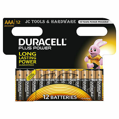 Duracell AAA Batteries 12 Pack PLUS POWER MN2400 LR3 Alkaline Battery