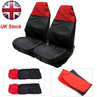 Universal Heavy Duty Nylon Car Seat Covers Waterproof Protectors Van Front UK