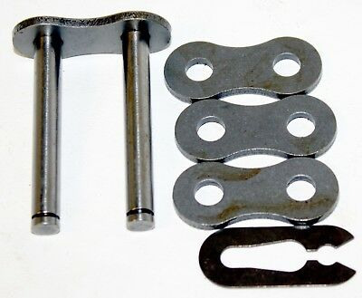 """80-2 Roller Chain Double Roller Master / Connecting Link 1"""" Pitch"""