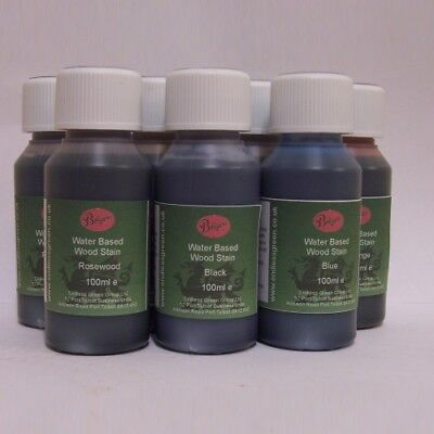 WOOD DYE - Bolgers water based wood stain - non toxic - Choice Of Colours  100ml