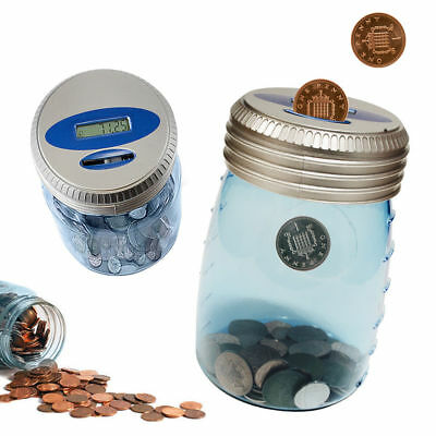 UK Digital Money Jar Electronic Accepts New £1 Coins LCD Piggy Bank Counting Box