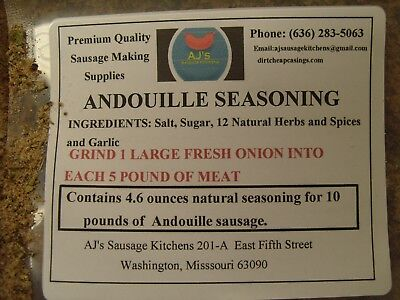Andouille  seasoning (Almost Famous) 4.6oz for 10 lb meat (SPECIAL PRICE)