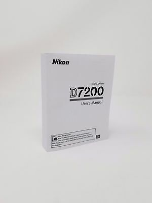 Nikon D7200 Instruction Owners Manual Book Original Brand NEW 390 Pages