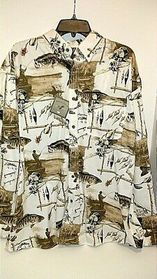 NORTH RIVER OUTFITTERS NWT Men's XL Button Down Fishing Long Sleeve Shirt $42.00