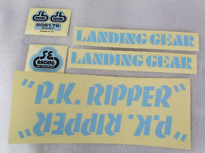 SE Racing PK Ripper DRIPPY FONT decal set in YELLOW//BROWN Old school bmx