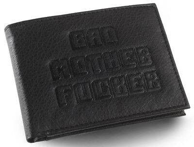 Black Embossed BMF (Bad Mother Fu**er) Leather Wallet As Seen in Pulp Fiction