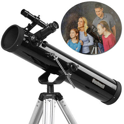Bushnell 700x76mm Reflector Telescope Portable Space Astronomical Beginner Tripo