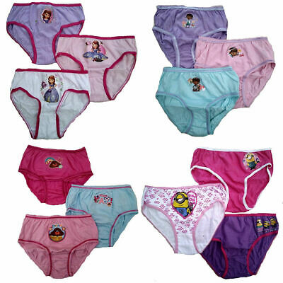 3 Pack Briefs Pants Cotton Paw Patrol Teletubbies Bing Princess Simpsons cars